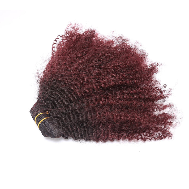Red OMBRE Color  4a-4b   -  Clip ins Set