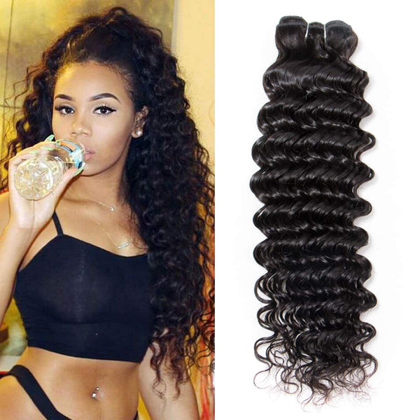 deep wavy/ wave  hair, natural hair extensions, Virgin hair  Miami extensions  black women natural virgin hair ,  good quality hair