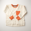 'On the Breeze' - Loose fit Sweatshirt - Cream/Orange/Anthracite - Our Little Tribe
