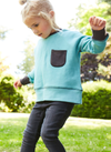 'Pods' - Raglan Sweatshirt - Anthracite/Teal