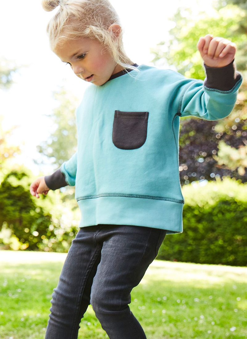 'Pods' - Loose fit Sweatshirt - Teal/Anthracite - Our Little Tribe