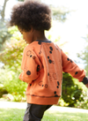 'On the Breeze' - Raglan Sweatshirt - Orange/Anthracite - Our Little Tribe