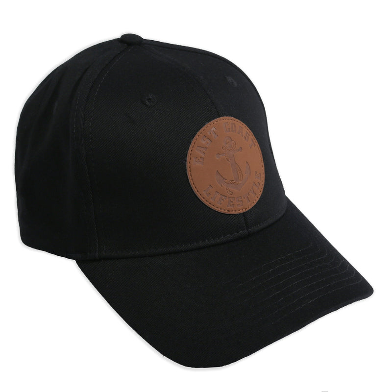 Adjustable Leather Patch Hat