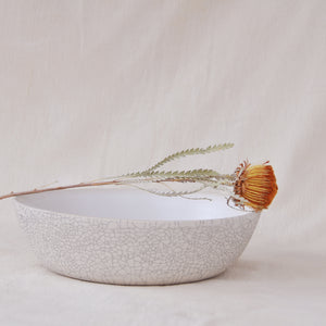 Crackle Serving Bowl