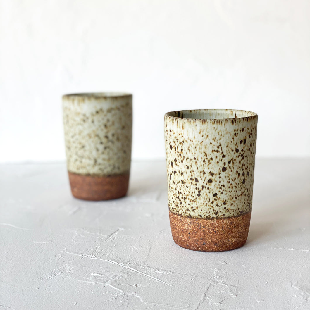 Stoneware Speckled Tumbler