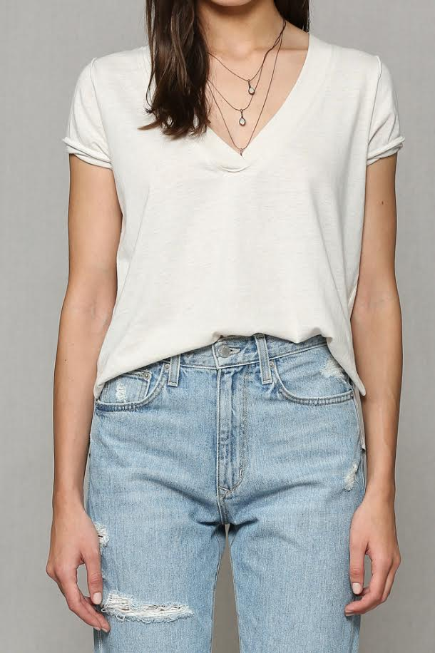ULTRA SOFT VNECK TOP