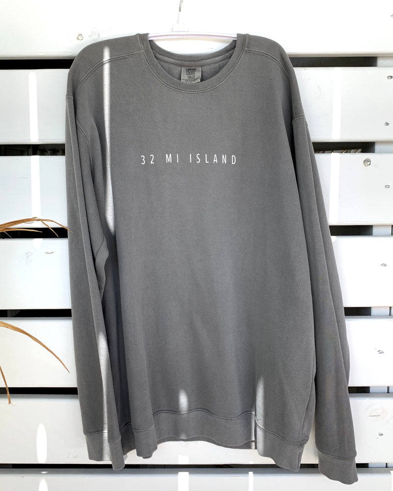 32 MI ISLAND GREY SWEATSHIRT