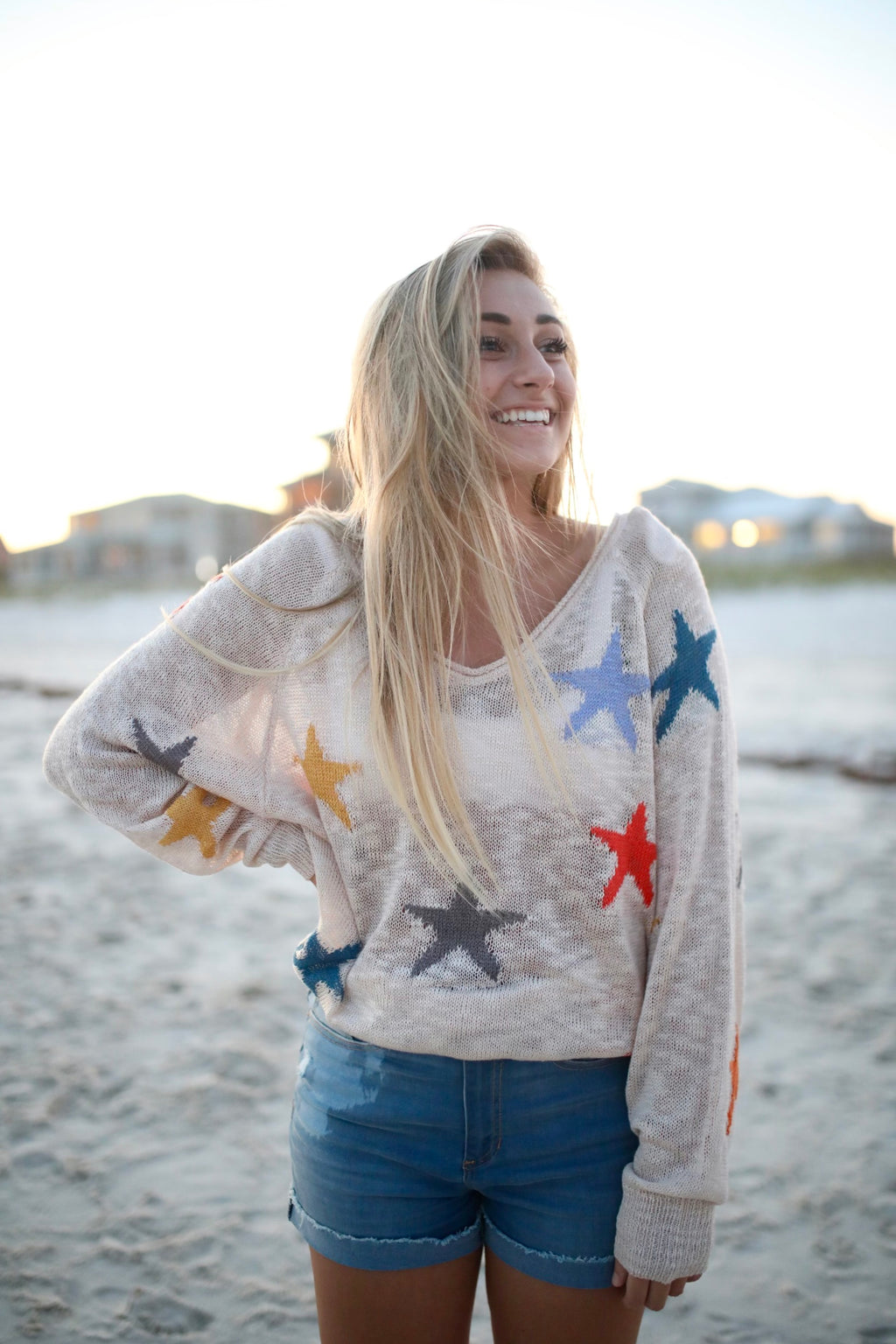 KNIT MULTI STAR PULL OVER