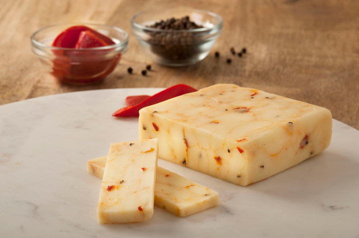 Wood River Creamery Roasted Red Pepper & Black Peppercorn_Sample