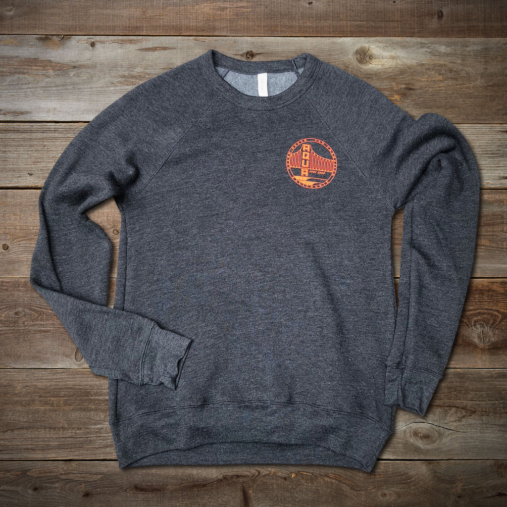 AQUA BRIDGE LOGO CREW SWEATSHIRT