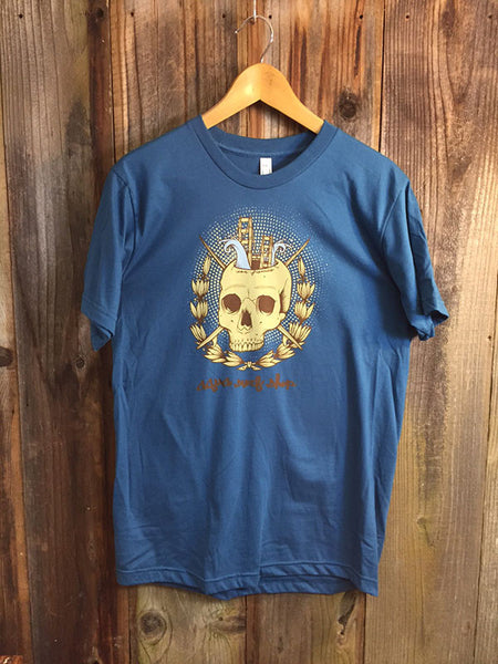 Golden Gate Skull Mens Tee by Jeremy Fish