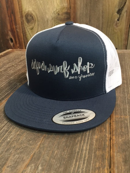 Aqua Surf Shop Script 2-Tone Trucker