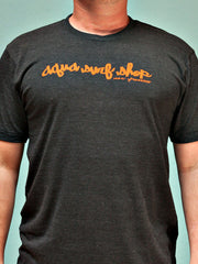 Aqua Surf Shop Script Mens Tee