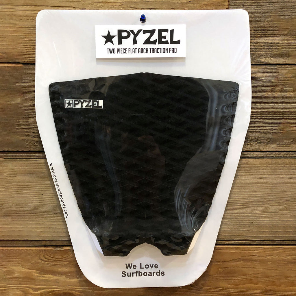 Pyzel 2 Piece Flat Traction Pad Black