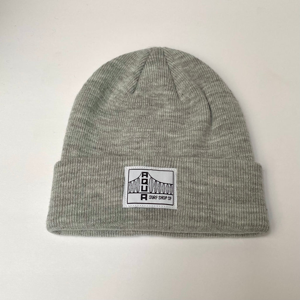 BRIDGE KNIT BEANIE WHT/BLK LABEL