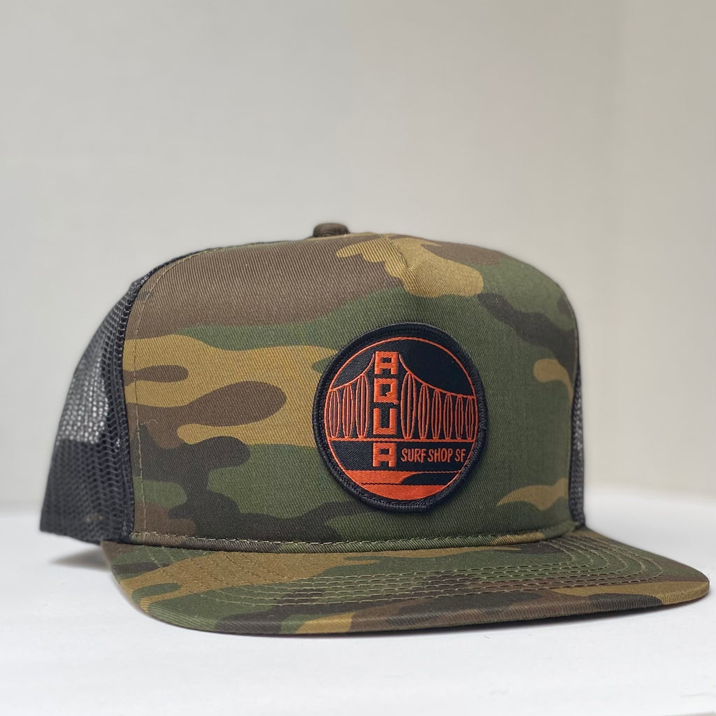 WOVEN BRIDGE PATCH HAT