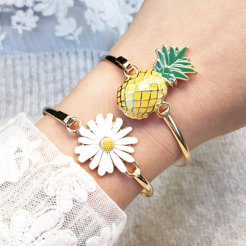 Pineapple bangle bracelet