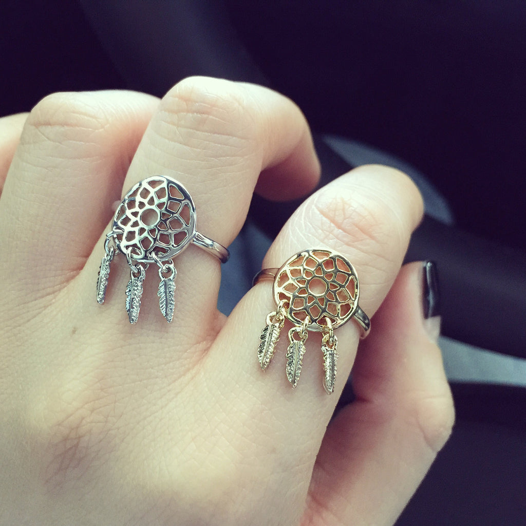 Dreamcatcher ring (3 colors)