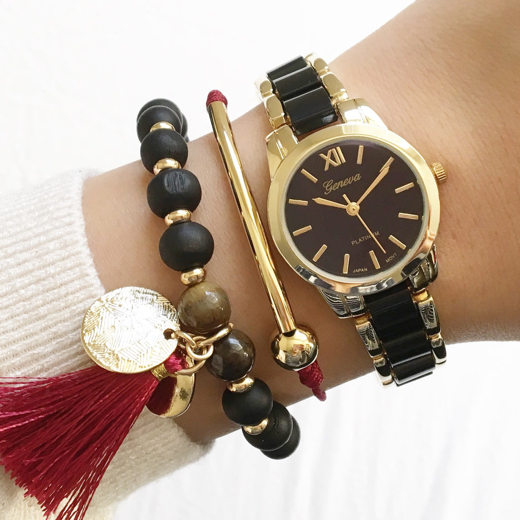 Tube bar tassel bracelet