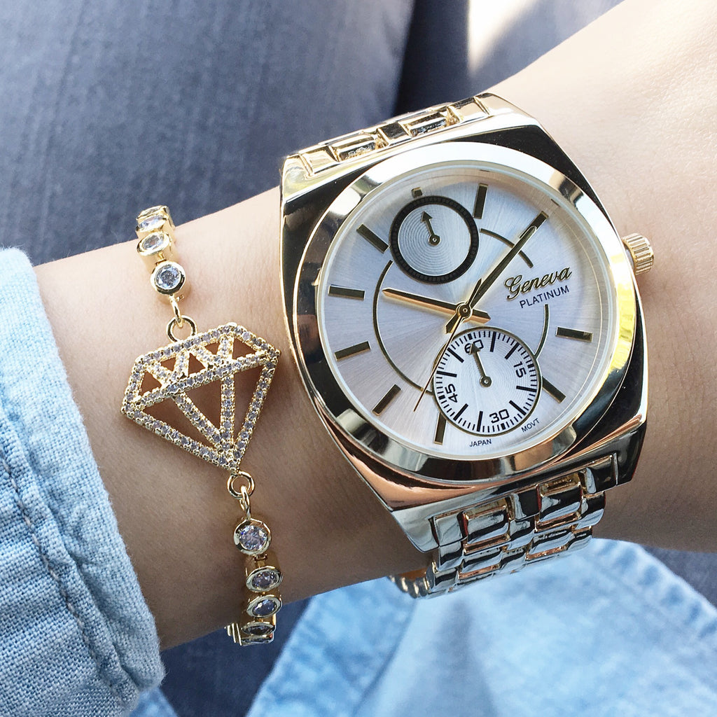 Squared metal watch (3 colors)