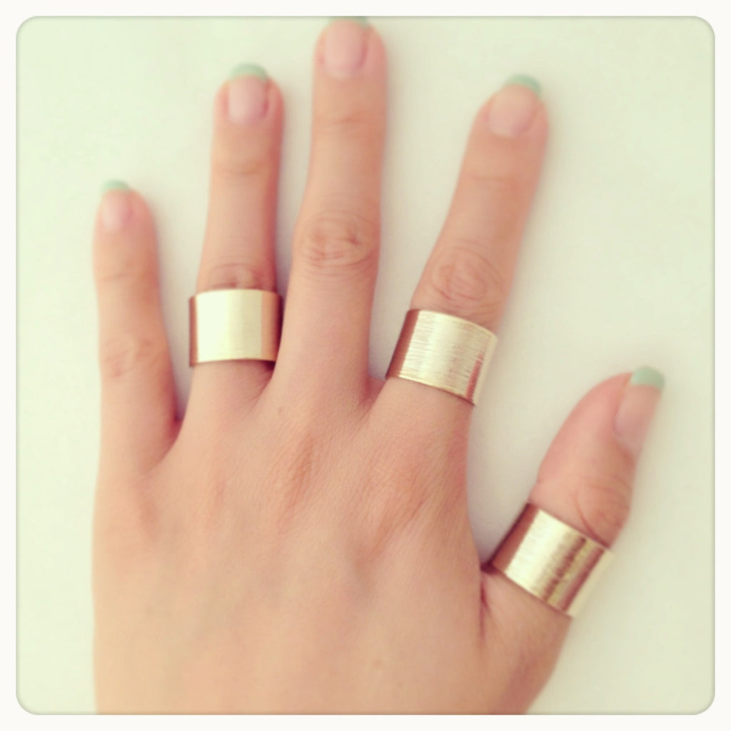 Bold rings set