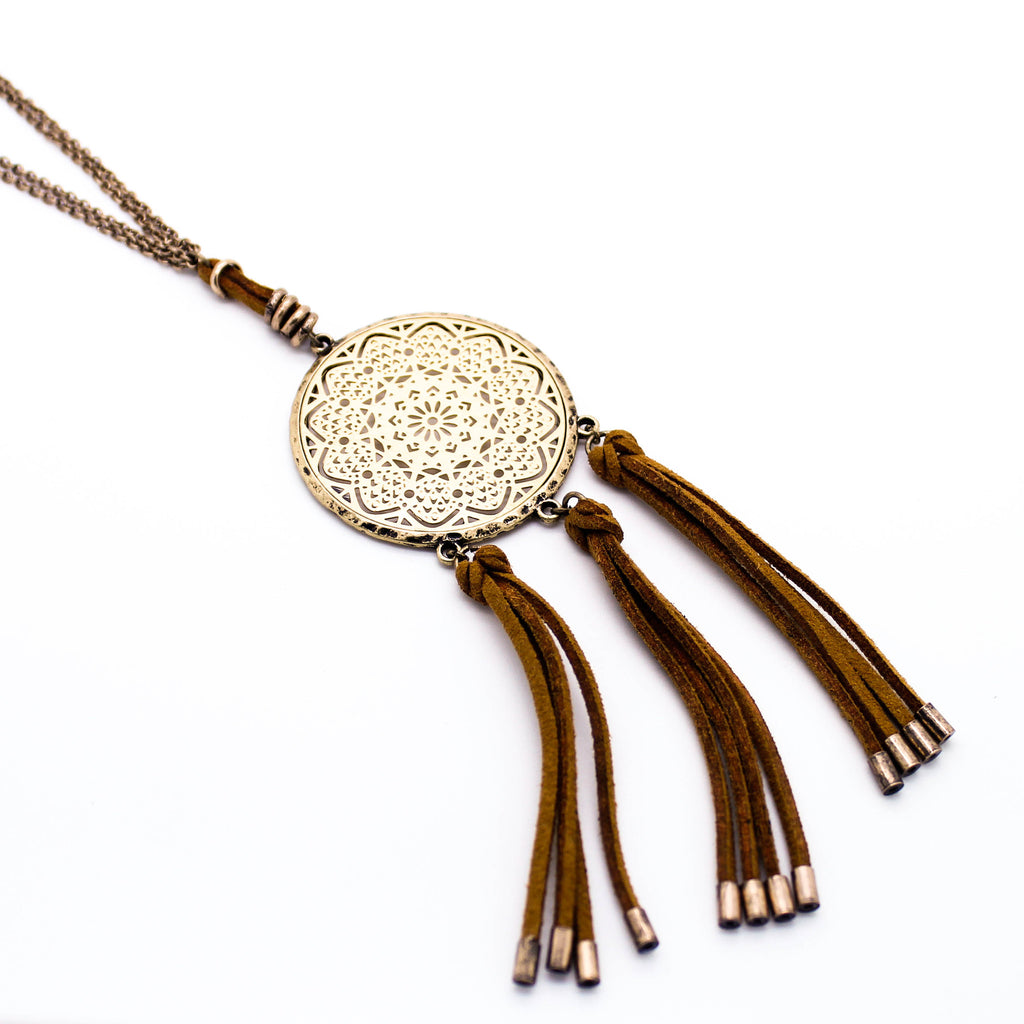 Dreamcatcher tassel long necklace