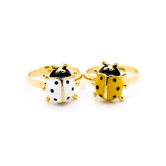 Lady bug knuckle, midi ring