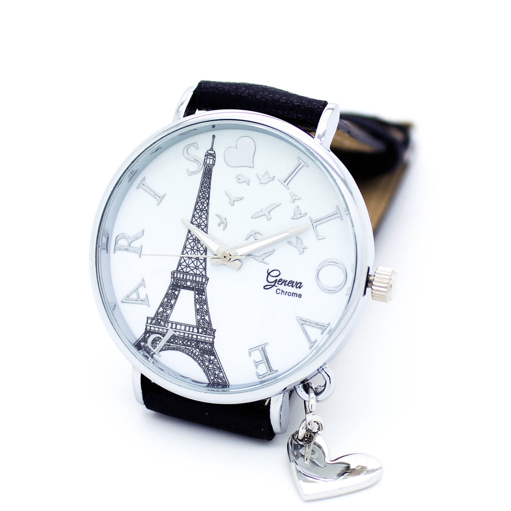 Paris Love strap watch (3 colors)
