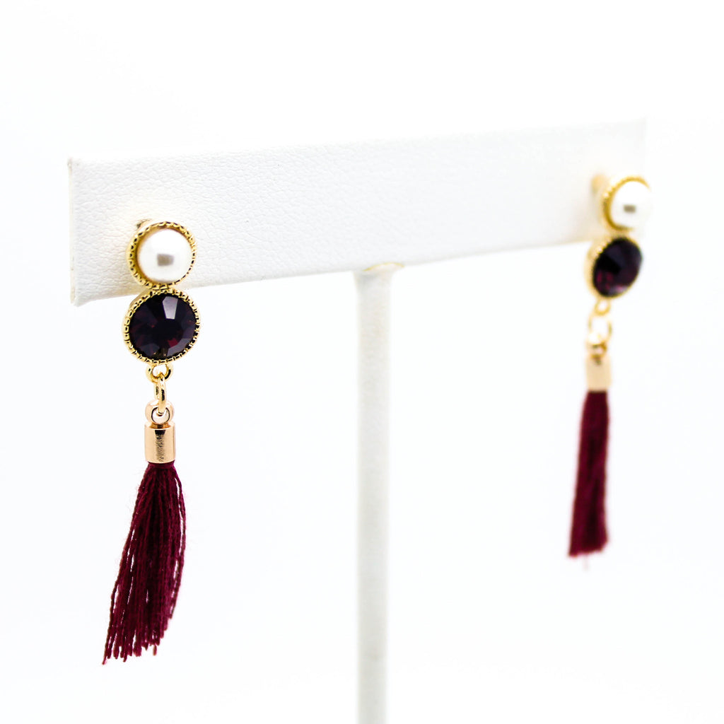 Tassel stone earrings