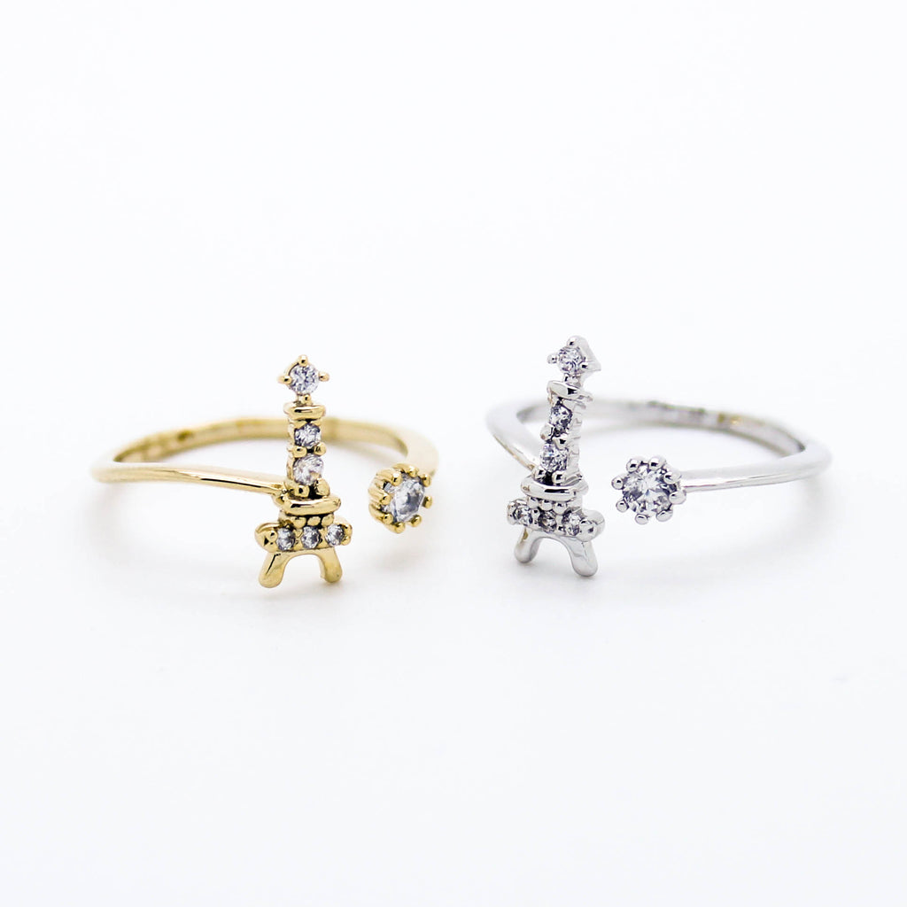 Eiffel Tower knuckle, midi ring