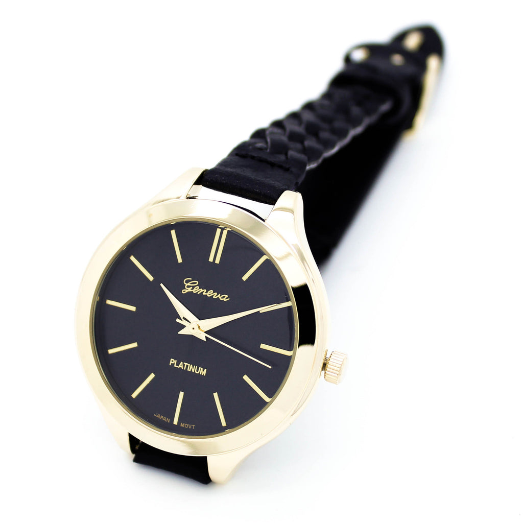 Monterey woven strap watch (3 colors)