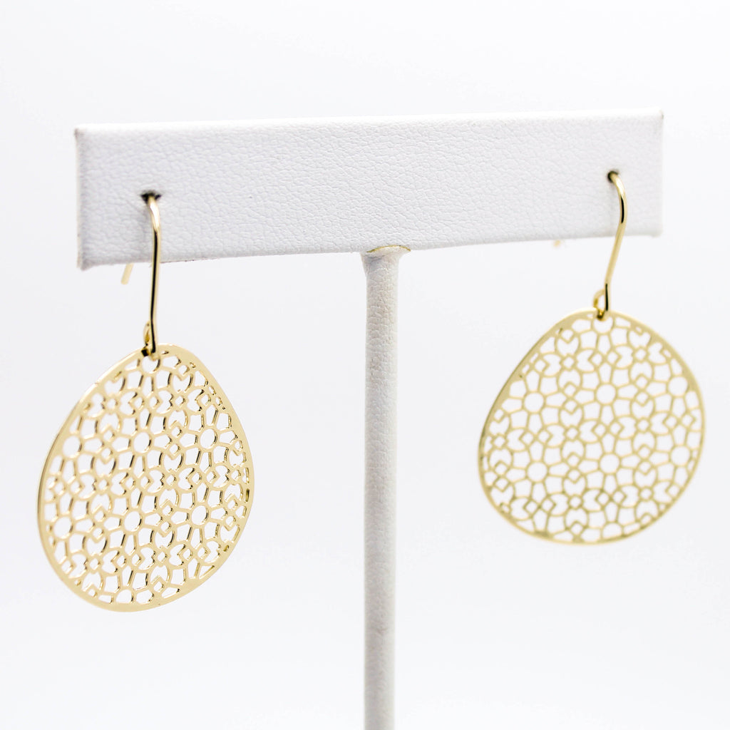 Filigree disc earrings