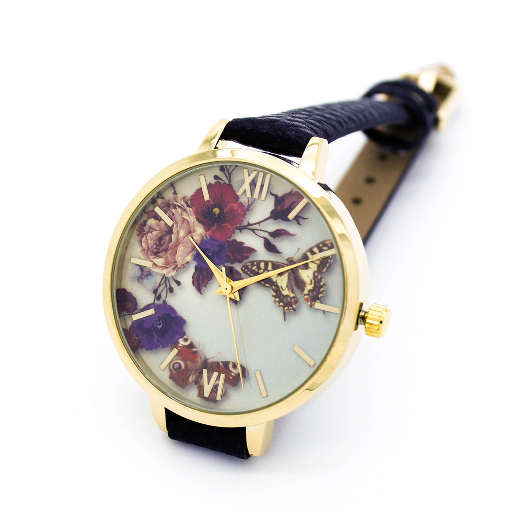 Butterfly garden strap watch (4 colors)