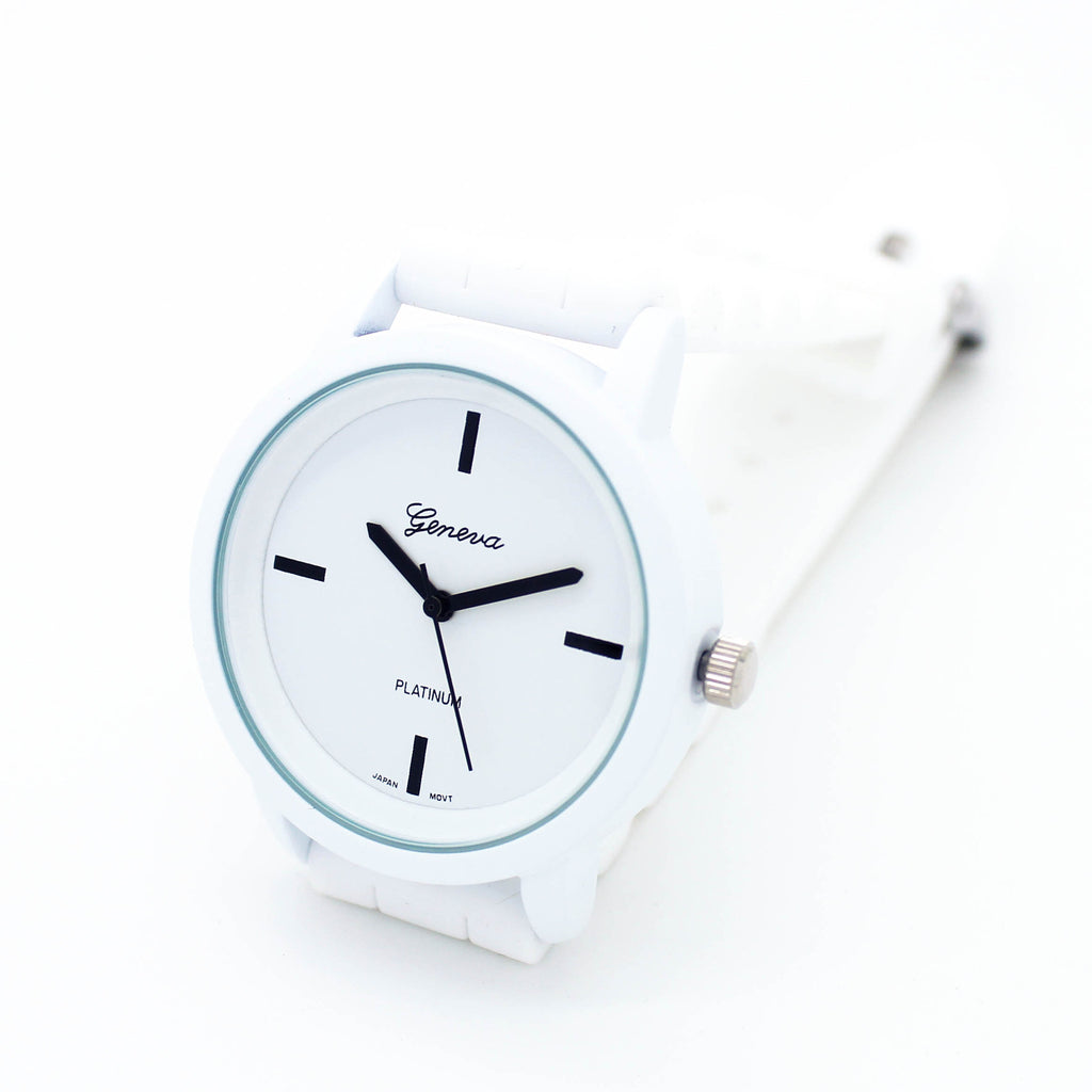 Pastel jelly strap watch