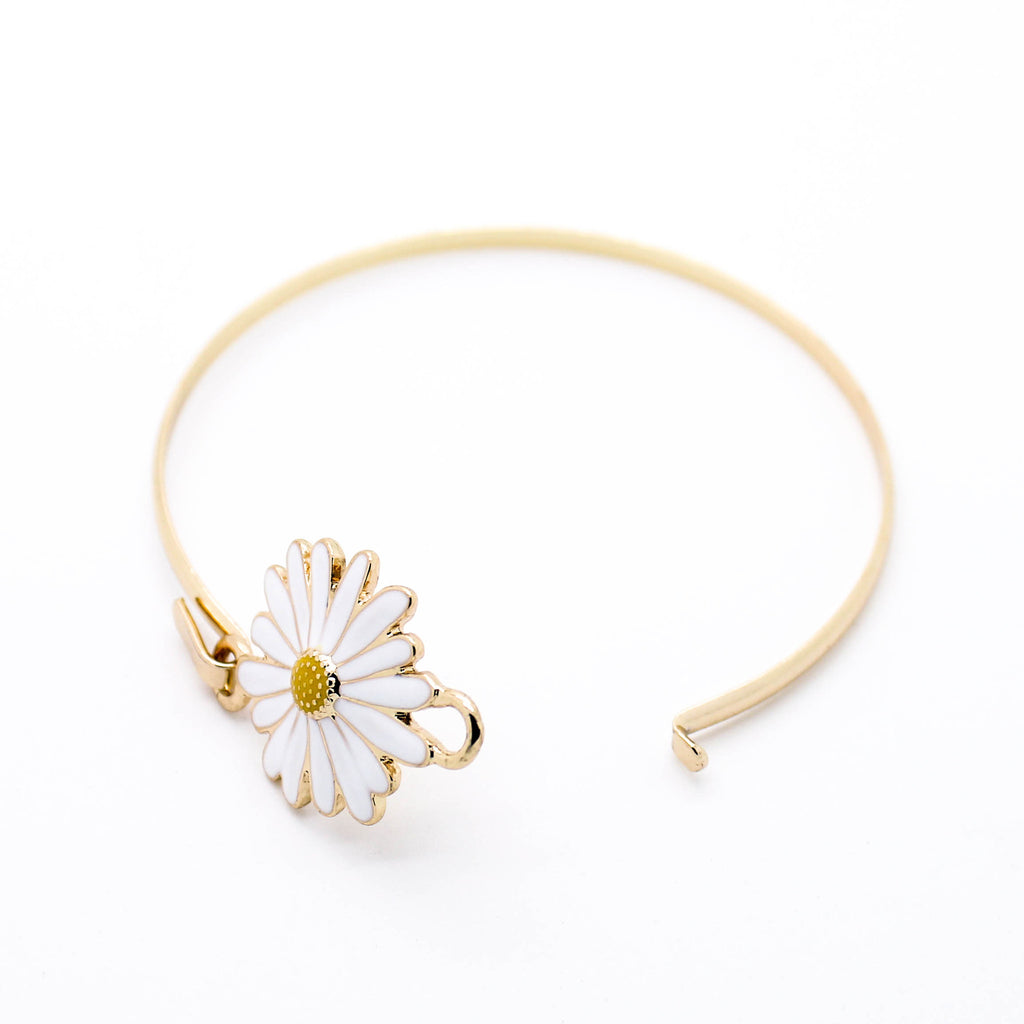 Daisy bangle bracelet