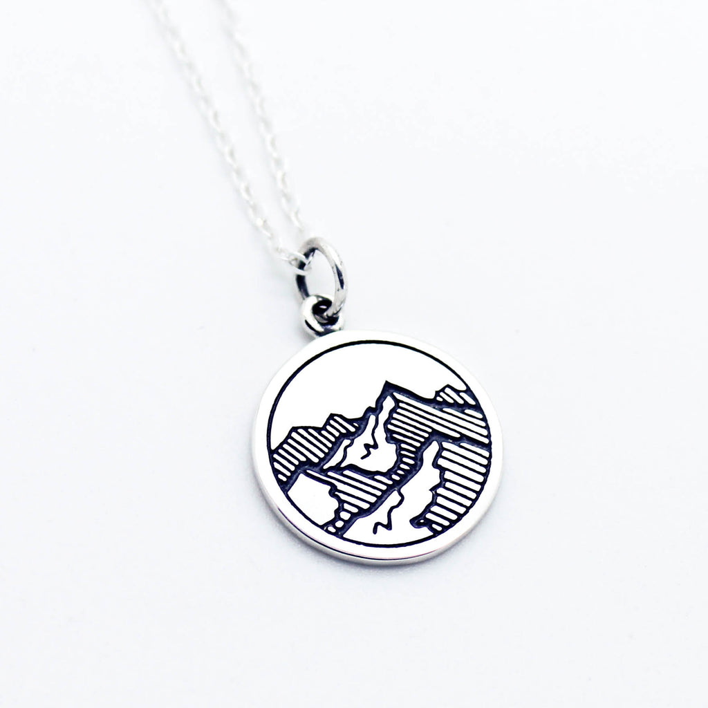 Mountains sterling silver necklace
