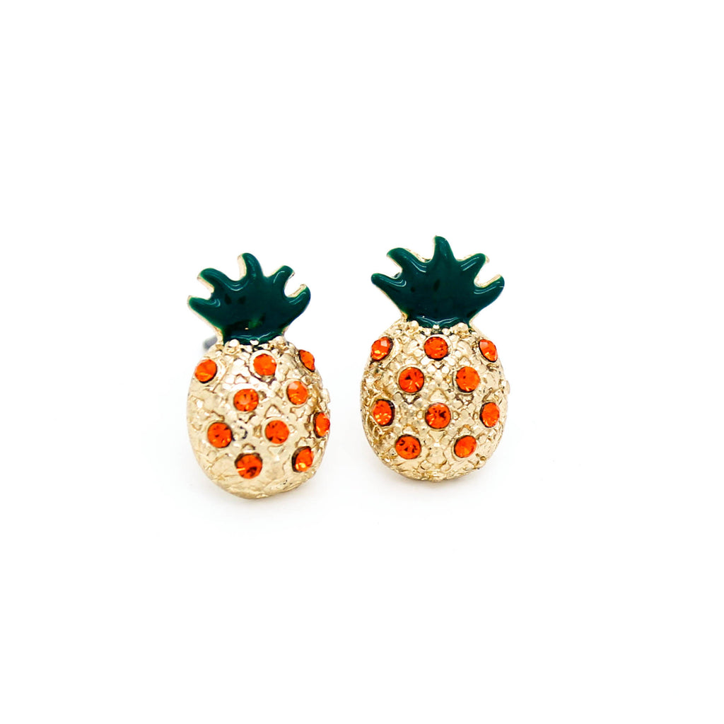 Pineapple stone earrings