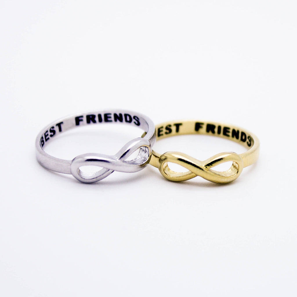 BEST FRIENDS Infinity sterling silver ring