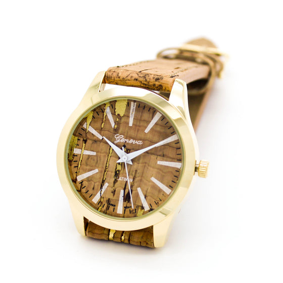 Cork strap watch (3 colors)