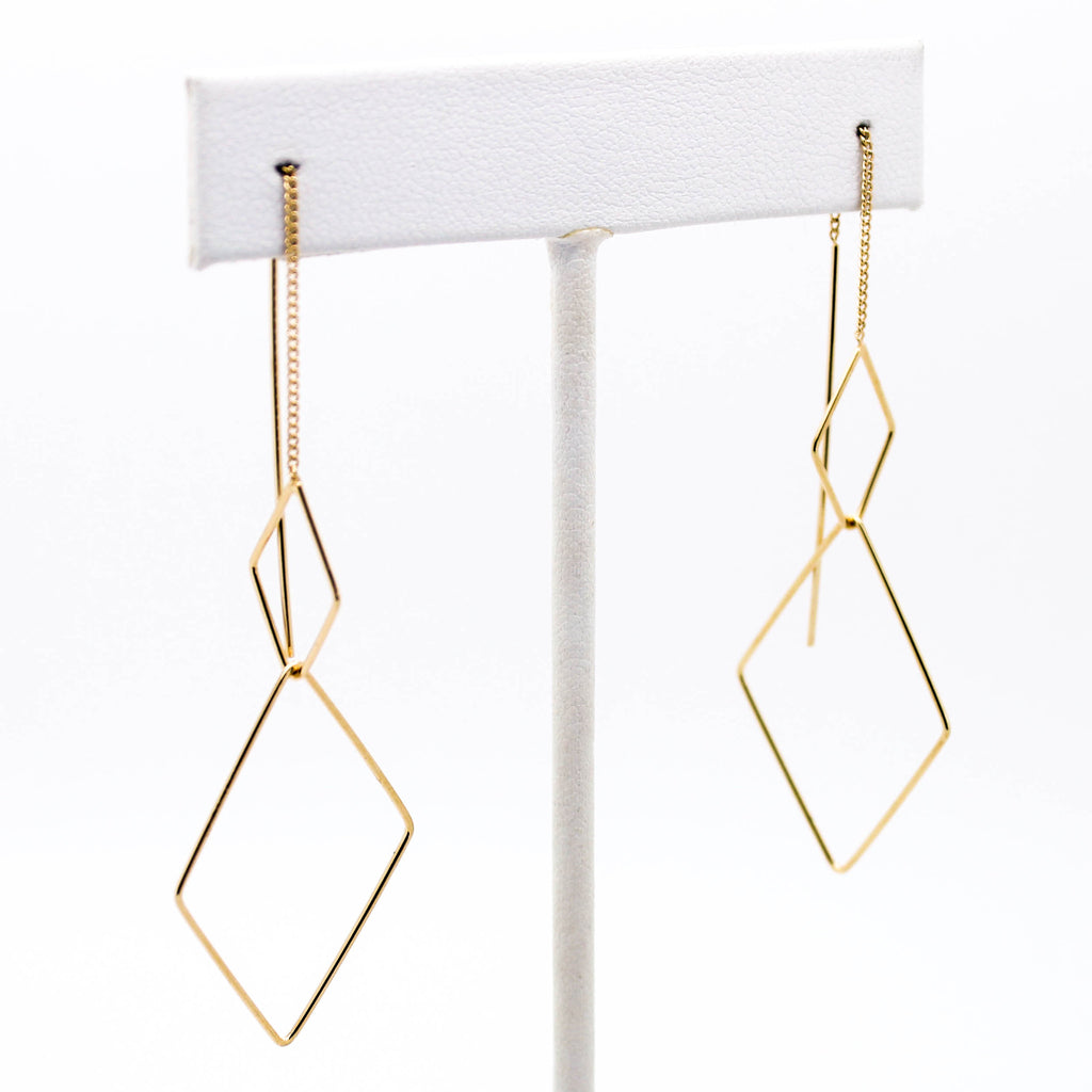Geometric shape drop earrings (2 styles)