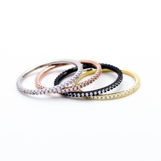 Stacking sterling silver rings set