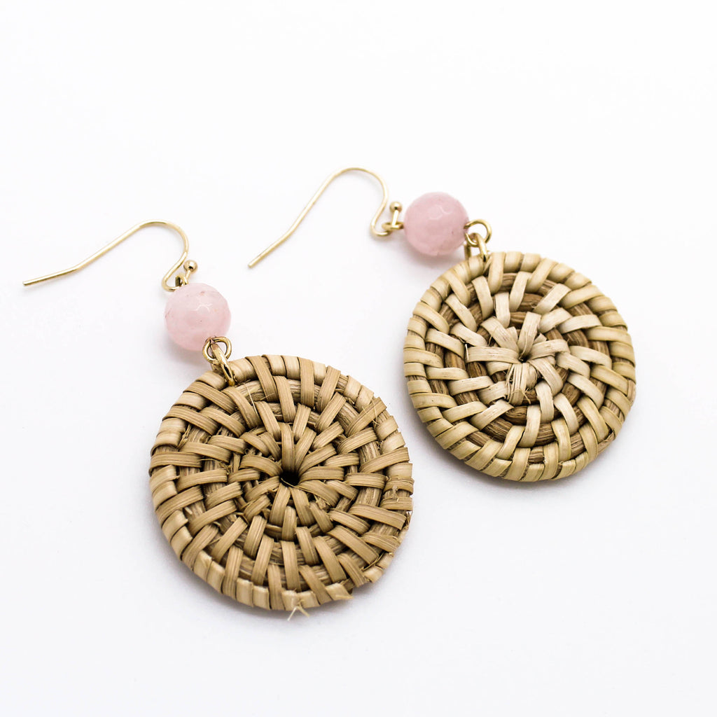 Boho natural earrings