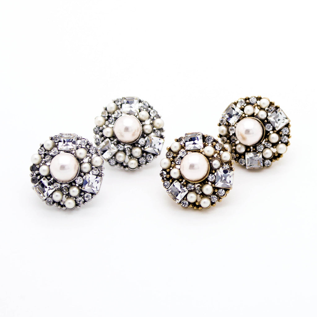 Boho pearl glam earrings
