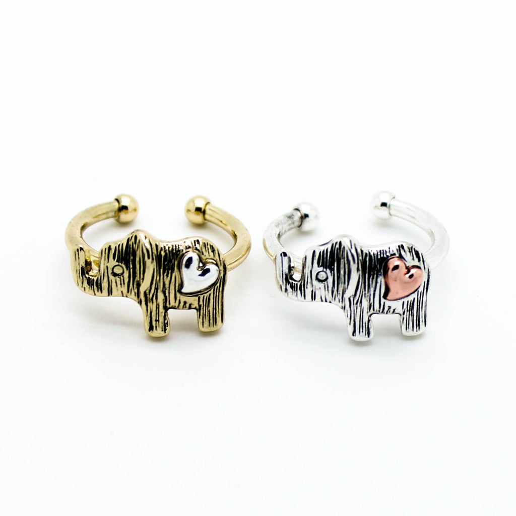 Elephant heart ring (2 colors)
