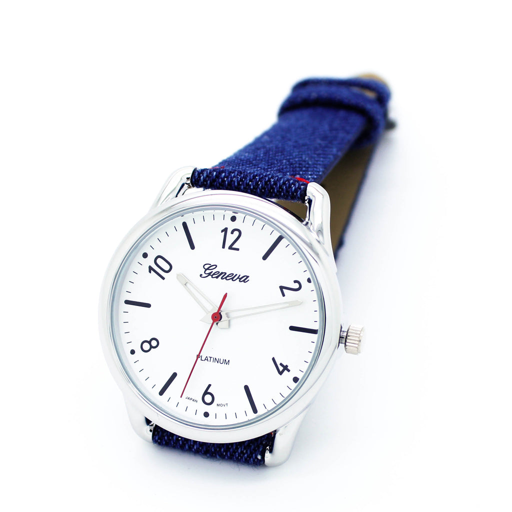 Denim strap watch (2 colors)