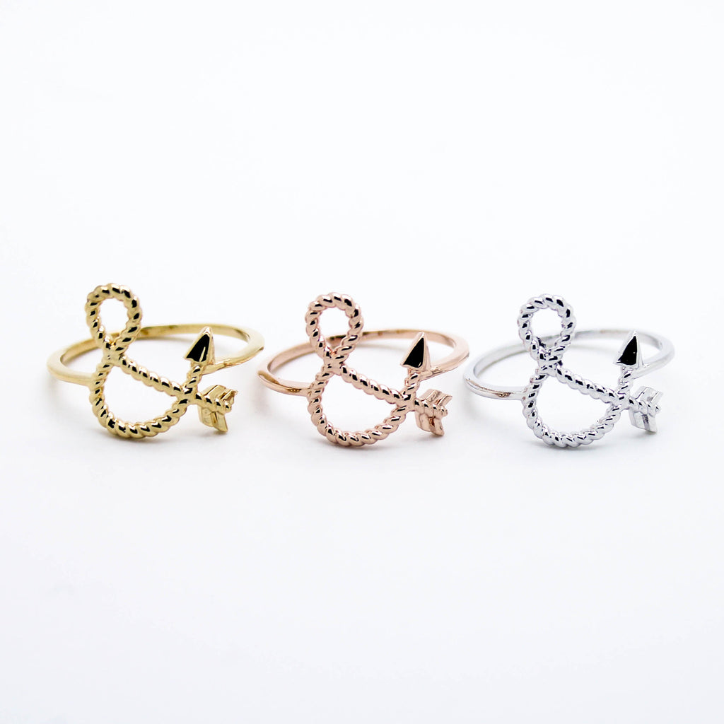 Arrow & rope ring