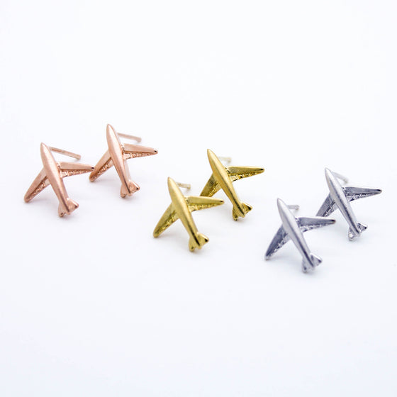 Airplane earrings