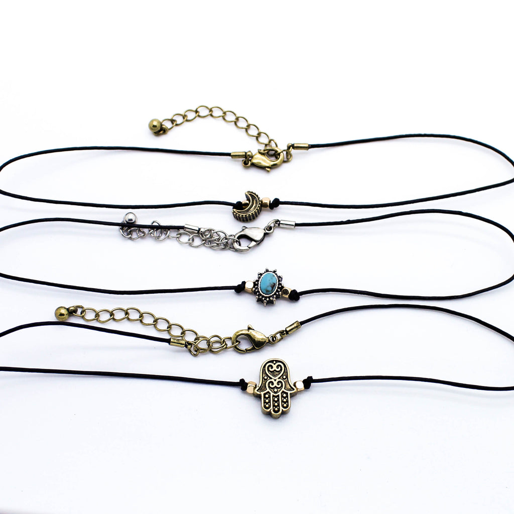 Antique charm choker set