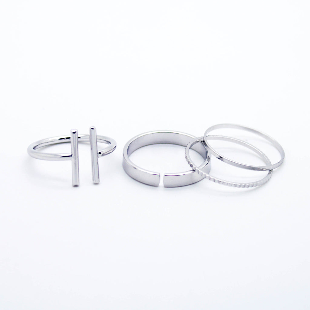 Bars stack rings set