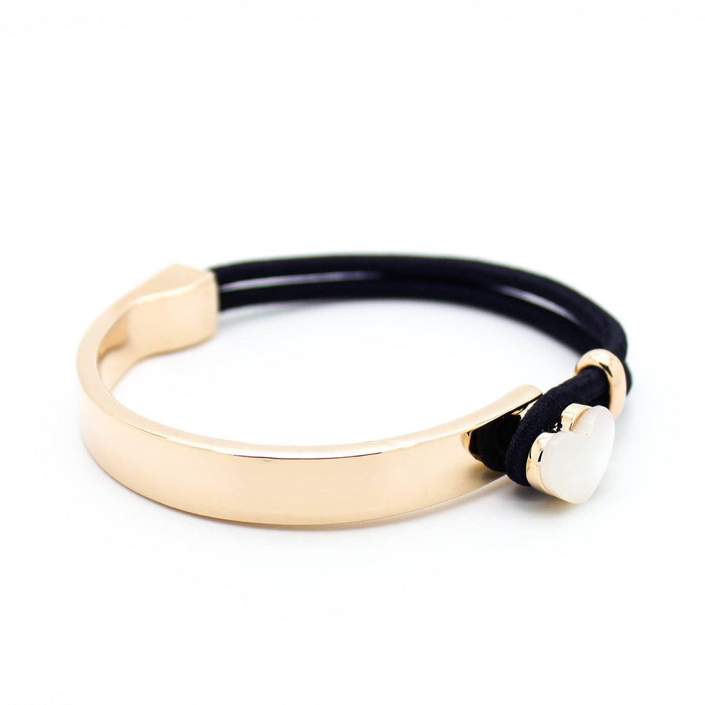 Heart elastic bangle bracelet